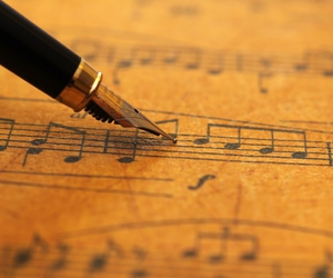 music and pencil image