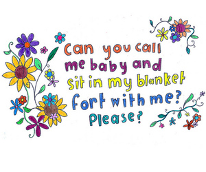 baby, flowers, and fort image