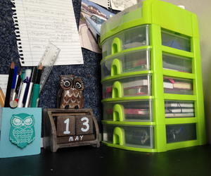 colors, desk, and stationery image