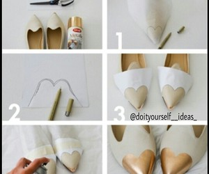 shoes, diy, and heart image