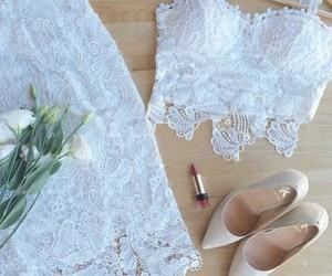 fashion, luxury, and white lace dress image