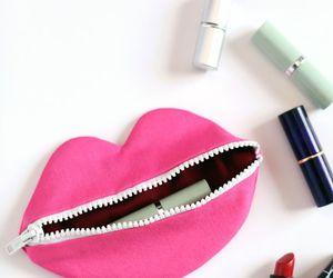 lips, pink, and lipstick image