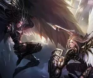 angel, demon, and fantasy image