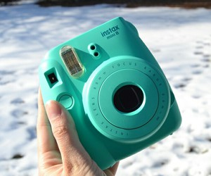 blue, camera, and girl image