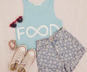fashion, outfit, and food image