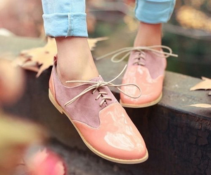 oxfords, pink, and shoes image