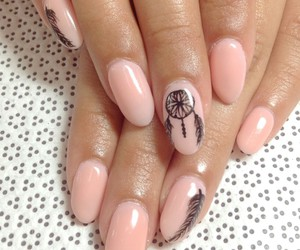 nails, pretty, and pink image
