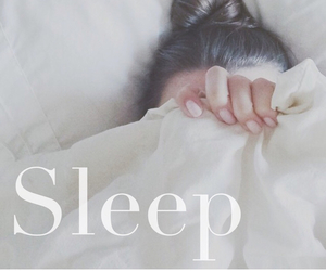 sleep, bed, and white image