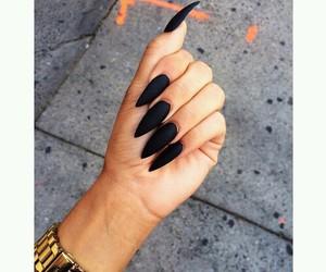 black, stilettos, and gold image