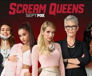 ariana grande, scream queens, and emma roberts image