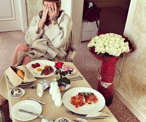 breakfast and girl image