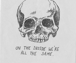 skull, quotes, and same image