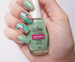 flor, nails, and unhas image