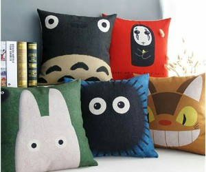 pillows and totoro image