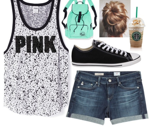 clothes, Polyvore, and starbucks image