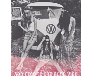 best friends, girl, and hippie image