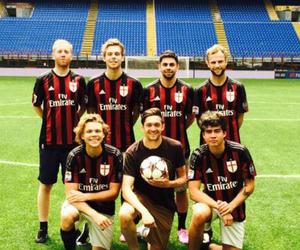 football, luke hemmings, and 5 seconds of summer image