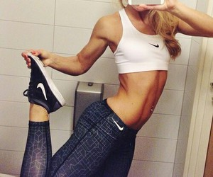 fittness, girl, and nike image