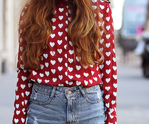 fashion, hearts, and hipster image