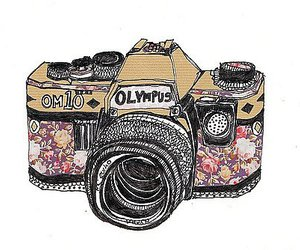 camera, Olympus, and drawing image