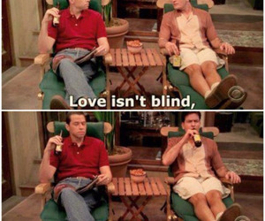 blind, two and a half men, and alan harper image