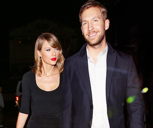 black, calvin harris, and couple image