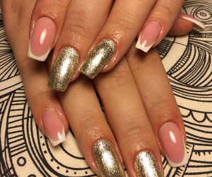 champagne, nails, and frenchnails image