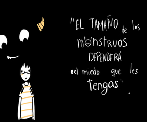 monsters, miedo, and frases image