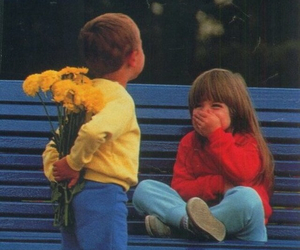 love, flowers, and kids image