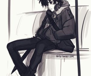 nico di angelo, percy jackson, and viria image