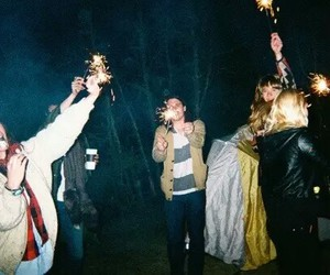 party, night, and friends image