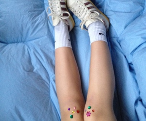 blue, shoes, and grunge image