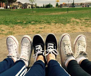 adidas, converse, and friendship image