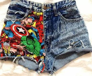 shorts, Marvel, and short image