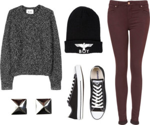 outfit, converse, and sweater image