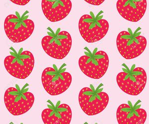 background, food, and strawberry image