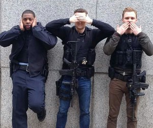 patrick flueger, jay halstead, and chicago pd image