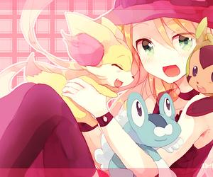 anime, chespin, and pokemon image