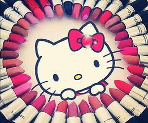lipstick, hello kitty, and makeup image