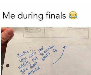 funny, finals, and me image