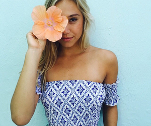 girl, flowers, and alexis ren image