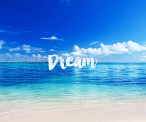 Dream, beach, and blue image
