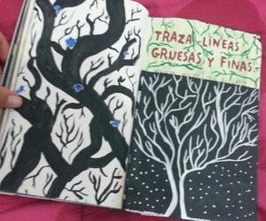 book, keri smith, and tree image