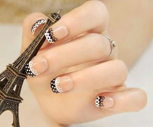 black and white, nails, and point image