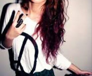 peace, fashion, and hipster image