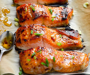 fish, salmon, and thai image