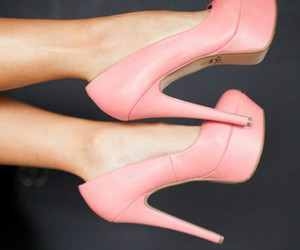 heels, pink, and lovely image