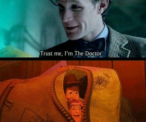 toy story, doctor who, and funny image