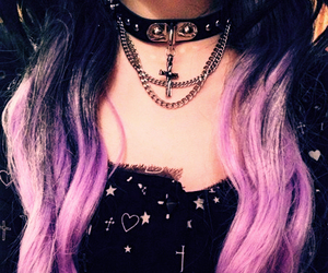 hair and pastel goth image