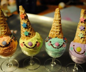 ice cream, food, and smile image